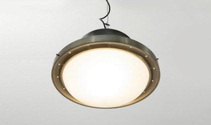 Lampadario Tau di Sergio Mazza per Artemide anni '50, mid century pendant lamp, 50s, italian design modern, vintage, glass,