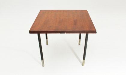 Tavolo allungabile in teak di Giampiero Vitelli per Rossi di Albizzate anni '60, vintage dining table, metal, 60's, italian design, mid century modern