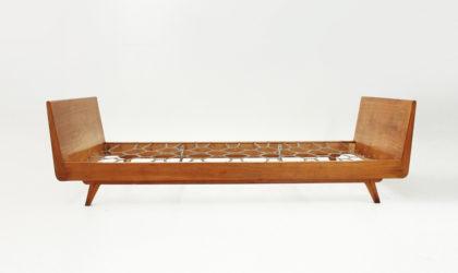 Letto a barca anni '50, mid century modern bed, italian design, daybed, 50s, gio ponti, paolo buffa, legno, wood, teak, neoclassical