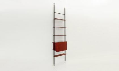 Libreria in teak di Marco Lavarello per Domus Linea anni '60. mid century wall unit, italian design, 60s, franco albini, uprights, brass, modern