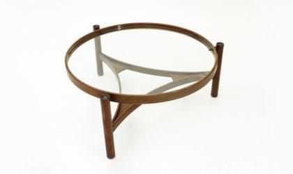 Tavolino modello 775 di Gianfranco Frattini per Cassina anni '60, coffee table, vintage, mid century modern, italian design, 60s, glass, walnuts,
