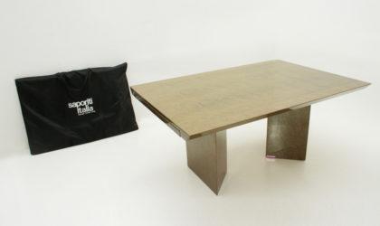 Tavolo allungabile Inlay di Giovanni Offredi per Saporiti anni '80, vintage table, mid-century modern, italian design, briar, 80s