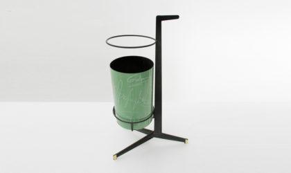 Portaombrelli in metallo smaltato Siva anni '50, umbrella stand, mid century modern, italian design, De poli, 50s, italian, enamelled metal