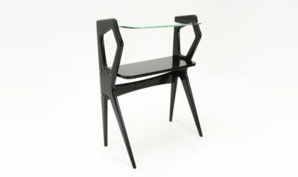 Consolle con piano in vetro anni '50, vintage console, mid century italian modern, 50s, wood, art decò, ico parisi, spartaco brugnoli,