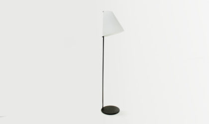Lampada da terra Micene di Leucos anni '90, vintage floor lamp, mid century modern, 90s, italian design, murano glass, contemporary, post modern, black