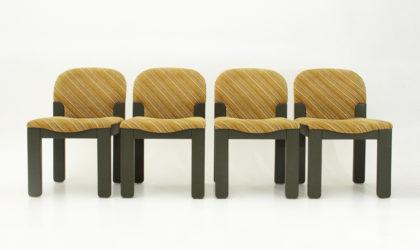 Quattro sedie Easy di Ernesto Radaelli per Saporiti anni '80, dining chairs, vintage, post modern, 80s, missoni, italian design, mid century modern