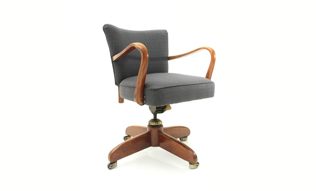 Sedia Da Ufficio Vintage.Sedie Girevole Da Ufficio Anni 40 Mid Century Office Chair