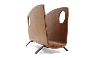 Portariviste in teak di Campo e Graffi per Home anni '50 mid century magazine rack, 50s, plywood, italian design modern