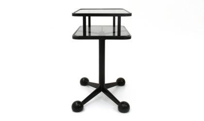 Carrello bar in metallo e vetro Allegri anni '70, mid century bar cart, 70s, glass, Italian modern design