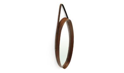 Specchio Ovale Con Cornice In Teak anni '50, oval mirror wooden frame, italian design, 50s, 60s, ico parisi, cesare lacca