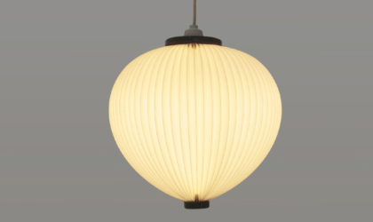 Lampadario in plastica plissettata di Esbern Klint per Le Klint anni '50, Danish pendant lamp, design, 50s, nordic design, mid century modern