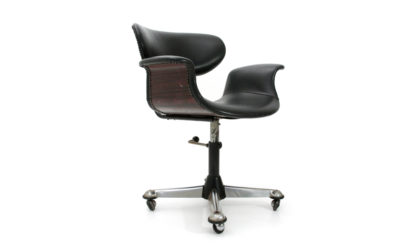 Sedie girevole da ufficio anni '50, mid century office chair, vintage, 50s, italian modern, gio ponti, castelli, Buffa, ico parisi