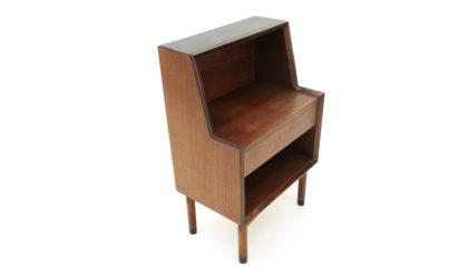 Comodino con cassetto in teak anni '60, mid century bedside table, 60s, Italian modern design, nightstand, ico parisi
