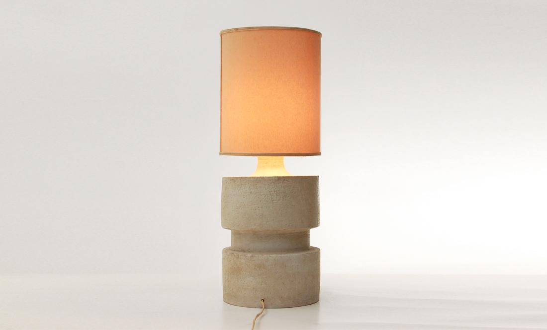 Lampada da tavolo in ceramica di albisola di sandro soravia anni 70