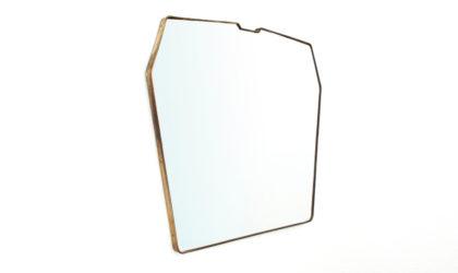 Specchio con cornice in ottone anni '50, mid century brass mirror, 50s, italian design, gio ponti, modernist, ico parisi