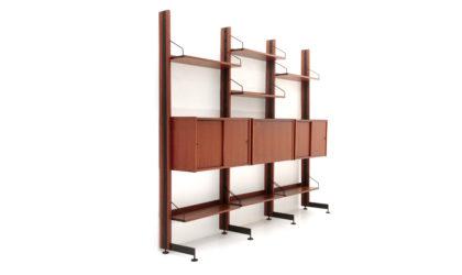 Libreria Selex della Industria Mobili Barovero anni '60, wall unit, 60s, italian design, vintage, shelves, franco albini, ico parisi