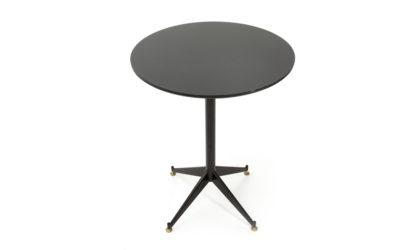 Piccolo tavolo con piano in vetro nero anni '60, mid century dining table, 60s, italian design, vintage