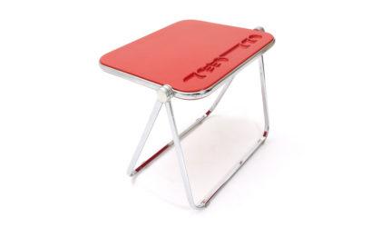 Scrivania rossa Platone di Giancarlo Piretti per Anonima Castelli anni '60, mid century folding desk, 60s, italian design, vintage, space age, joe colombo
