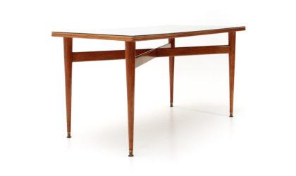 Tavolo con piedi in ottone anni '50, mid-century dining table, 50s, italian design, vintage, carlo de cali, paolo buffa,