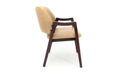 Poltroncina in pelle 814 di Ico Parisi per Cassina anni '60, vintage leather armchair, 60s, italian design, brown, beige, gio ponti