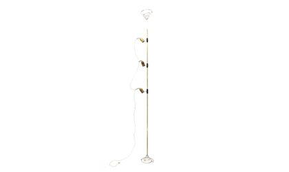 Lampada cielo terra di Francesco Fois per Reggiani anni '60, vintage floor lamp, 60s, italian design, mid century modern, brass, space age