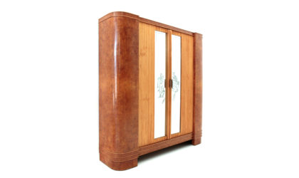 Armadio appendiabiti con porte scorrevoli anni '40, vintage wardrobe, coat hanger, 40s, italian design, mid century, art decò, gio ponti, emilio lancia