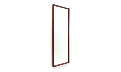 Specchio rettangolare con cornice in teak massiccio anni '60, italian design, mirror, mid century modern, campo e graffi, modernism,