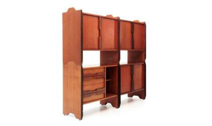 Credenza componibile F3 anni '60, sideboard teak, italian design, mid century modern, 60s, wall unit, modulable