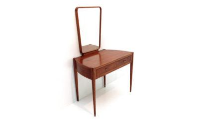 Consolle toeletta con specchio anni '50, vanity desk, italian design, mid century modern, 50s, mirror, gio ponti