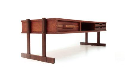 Tavolino con cassetto e vassoi anni '60, coffee table, italian design, mid century modern, 60s, gianfranco frattini, bernini