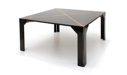 Tavolo Tema di Vico Magistretti per B&B anni '50, dining table, italian design, mid century modern, 70s, lacquered wood, black, post modern, square