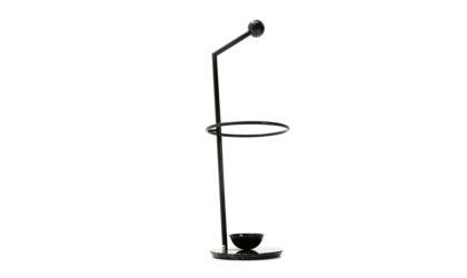 Portaombrelli in metallo e marmo di Fly Line anni '80, umbrella stand, italian design, mid century modern, 80s, post modern