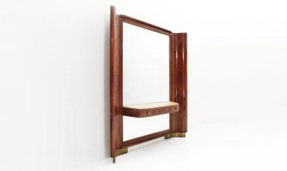 Consolle con specchio anni '40, mirror console, italian design, post modern, 40s, paolo buffa, guglielmo ulrich, bega, arca