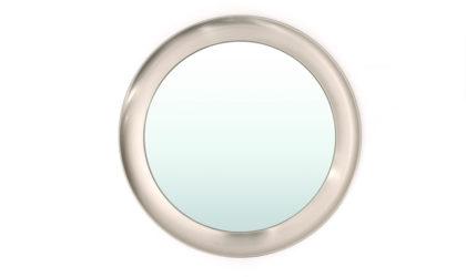 Specchio in alluminio spazzolato di Sergio Mazza per Artemide anni '60, mirror, 60s, mid-century modern, italian design, aluminium