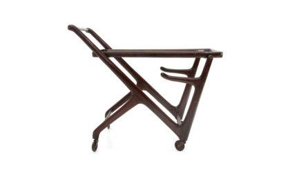 Carrello con piano in vetro anni '50, cart, 50s, mid-century modern, italian design, cesare lacca, gio ponti