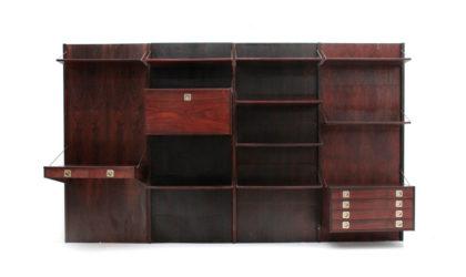 Grossa libreria con scrivania Stildomus anni '60, wall unit, 60s, mid-century modern, franco albini, bbpr, ico parisi