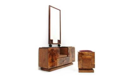 Toletta con sgabello anni '30, vanity desk with stool, 30s, mid-century modern, gio ponti, paolo buffa, tommaso buzzi
