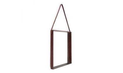 Specchio rettangolare con cornice in teak anni '60, wood frame mirror, 60s, mid-century modern, ico parisi, carlo de carli