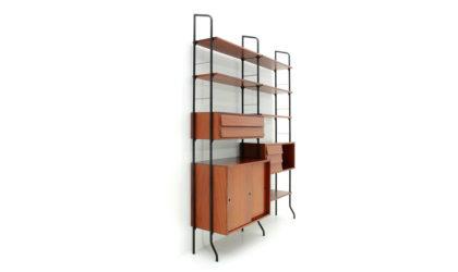 Libreria Amma Modello Aedes anni '50, bookcase, 50s, mid-century modern, albini, freestanding, wall unit, frattini