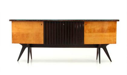 Credenza con scomparto bar anni '50, sideboard, 50s, mid-century modern, paolo buffa, mollino, campo e graffi