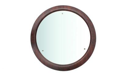 Specchio con cornice in compensato curvato della Mac anni '60, mirror, italian design, mid century modern, 60s, wooden, campo e graffi, home