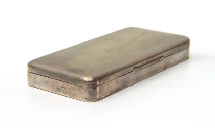 Scatola rettangolare in argento anni '50, silver box, vintage, mid century modern, 50s,