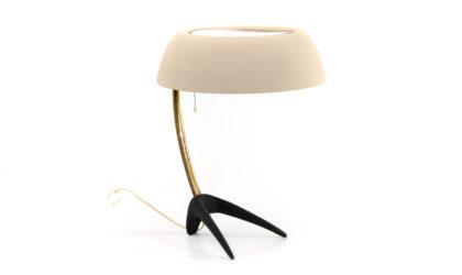Lampada da tavolo di Luis Kalff per Philips anni '50, table lamp, mid-century modern, 50s, modernist, design, brass
