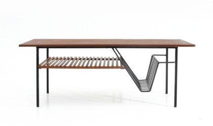 Tavolino con portariviste anni '50, coffee table, italian design, mid-century modern, ico parisi, gastone rinaldi