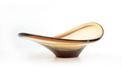 ciotola svuotatasche in vetro colorato anni '60, bowl, italian design, mid-century modern, murano, scarpa, venini, seguso