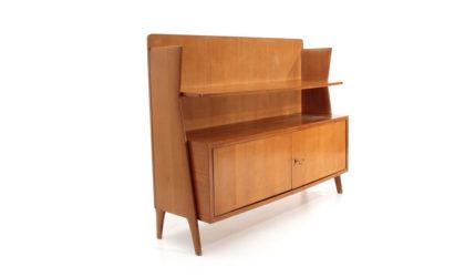 Credenza con mensola anni '50, sideboard and shelf, mid century modern, 50s, ico parisi, paolo buffa, gio ponti
