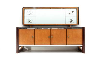 Credenza con specchio la permanente del mobile Cantù '50, sideboard, italian design, mid-century modern,paolo buffa, guglielmo ulrich, 50s
