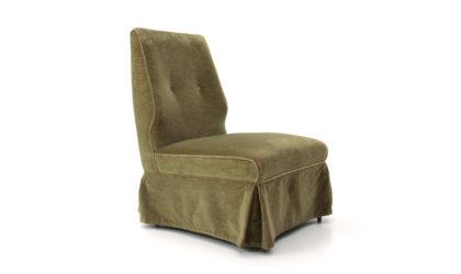 Poltrona da camera in velluto verde anni '50, armchair mid-century modern, 50s, italian design, vintage, osvaldo borsani, paolo buffa