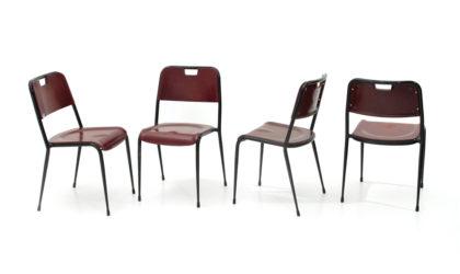 Quattro sedie in metallo e resina della Rima anni '50, chairs, mid-century modern, 50s, italian design, vintage, Gastone Rinaldi, Gio Ponti