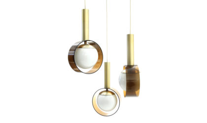 Lampada con tre pendenti Stilux anni '60, pendant lamp, mid-century modern, 60s, italian design, stilnovo, arteluce, arredoluce